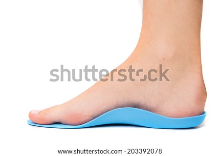 Flat foot isolated on white - stock photo