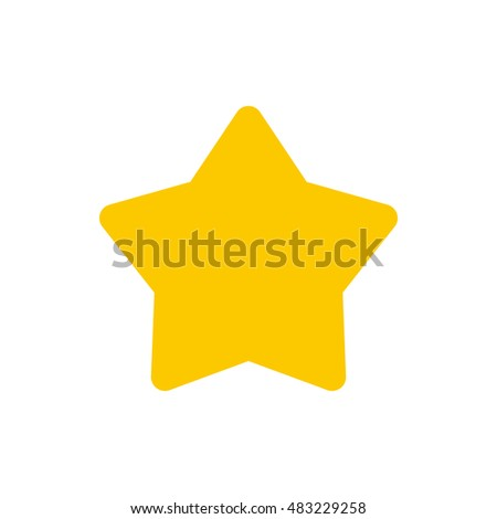 Flat golden star icon. Universal golden star icon to use for web and mobile UI isolated  illustration