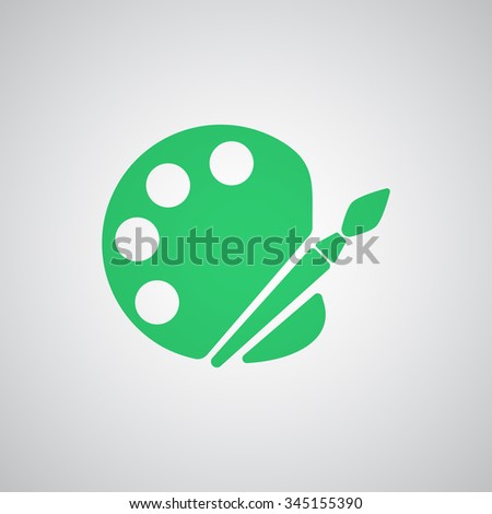 Flat green Palette icon