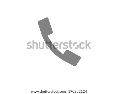 Flat icon of a phone - stock photo