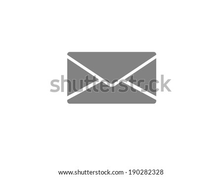 Flat icon of letter - stock photo