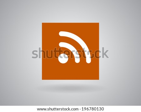 Flat icon of rss - stock photo