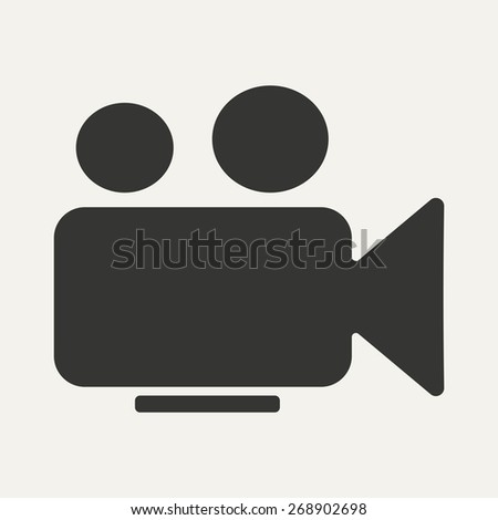Flat in black and white mobile application camera - stock photo