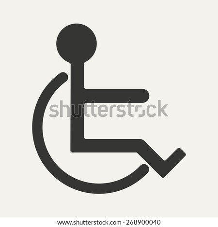 Flat in black and white mobile application wheelchair  - stock photo