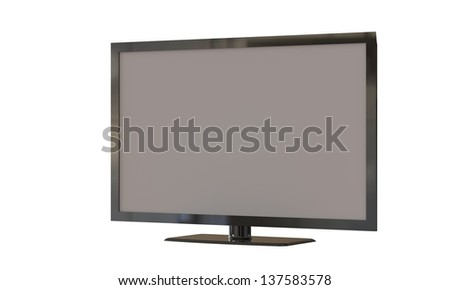 flat lcd screen isolated on white