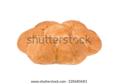 flat loaf isolated on a white background
