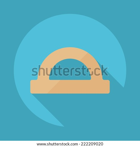 Flat modern design with shadow icons for web design and mobile applications, SEO. search Engine Optimization: protractor - stock photo