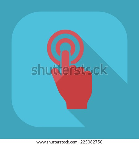 Flat modern design with shadow icons for web design and mobile applications, SEO. search Engine Optimization: hand pointer - stock photo