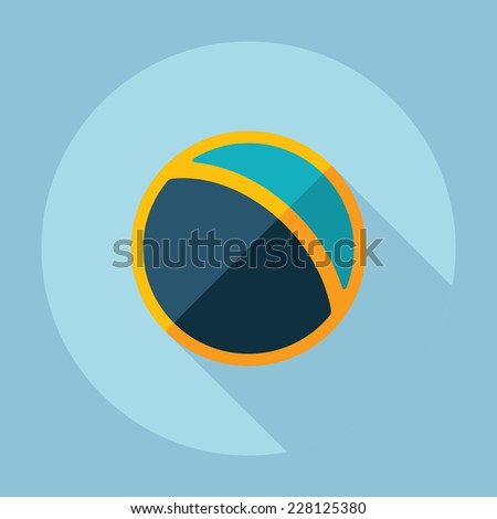 Flat modern design with shadow, SEO. Icons mobile applications and web design. Working optimization:  ball - stock photo