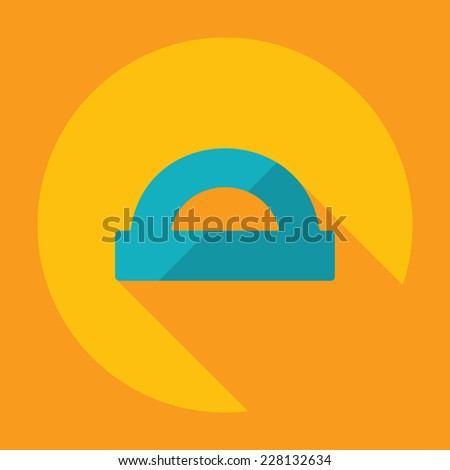 Flat modern design with shadow, SEO. Icons mobile applications and web design. Working optimization:  protractor - stock photo