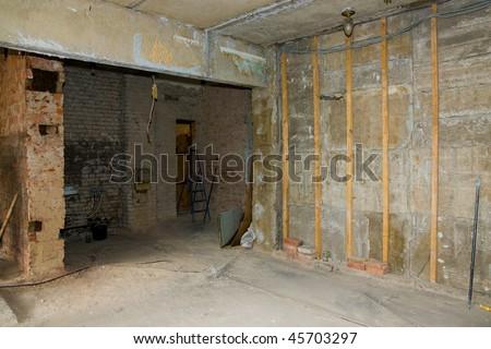 flat renovation - stock photo