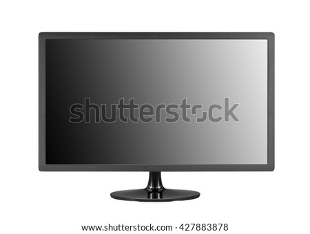 flat screen isolated