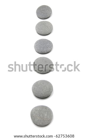 flat stones in the line - stock photo