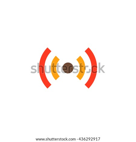Flat Wi-Fi. Color simple flat icon on white background