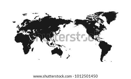 Flat world map on light background stock illustration 1012501450 flat world map on a light background for interior design advertising screen saver gumiabroncs Gallery