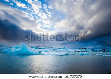 Flatland near Jokulsarlon, South Iceland - stock photo
