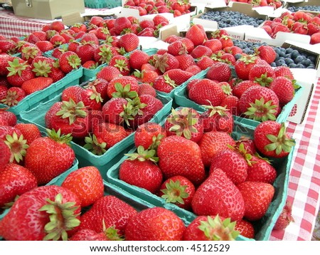 Flats of Strawberries