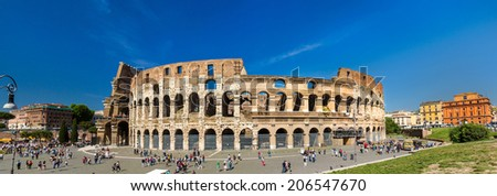 Flavian Amphitheatre (Colosseum) in Rome, Italy - stock photo