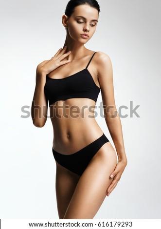 Woman In Black Bikini