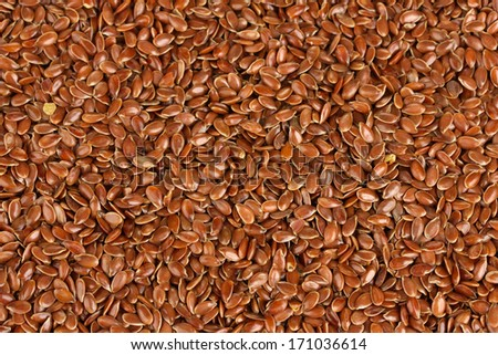 flax seeds background - stock photo