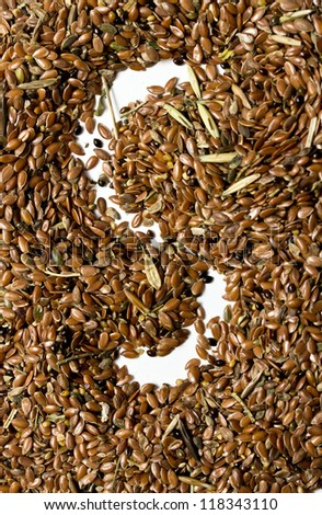 flax seeds for further processing
