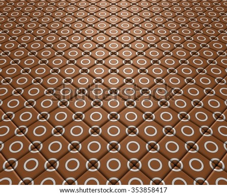 Fleeing brown floor with white circles