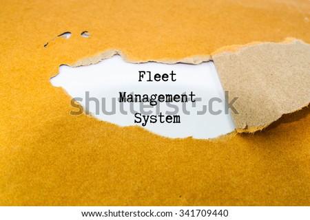 Fleet management system on brown envelope  - stock photo