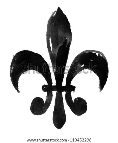 Fleur De Li (Hand Painted) - stock photo