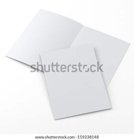 flier or leaflet in a4 size on white - stock photo