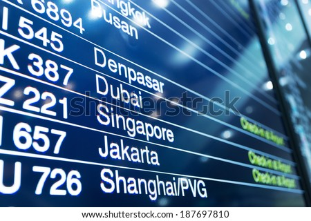 Flight Board  - stock photo