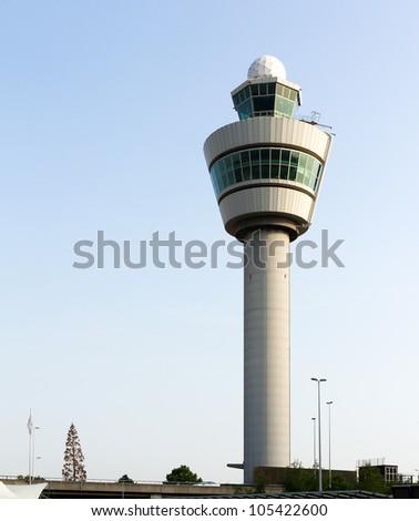 Flight control tower - stock photo