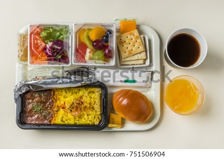 Flight meal of the general economy class