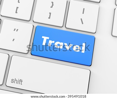 Flight sign in place of enter travel key