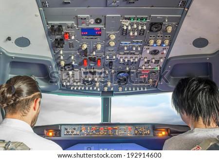 flight simulator - stock photo