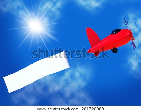 Flights Banner Representing Blank Space And Copy