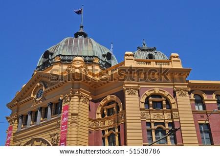 Flinders Street Station. Australia, Melbourne. - stock photo