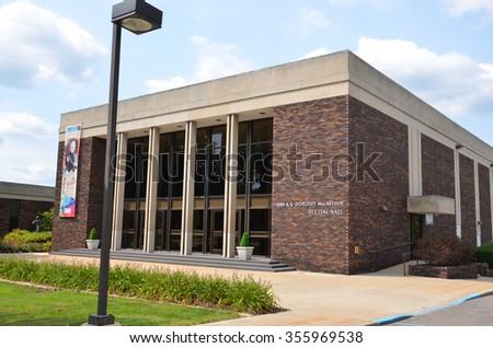 FLINT, MI - AUGUST 22: The McArthur Recital Hall in Flint, MI, shown here on August 22, 2015, houses the Flint Institute of Music.  - stock photo