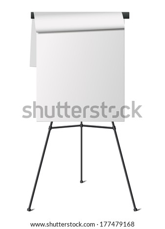 flip chart isolated on white
