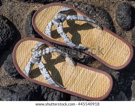 Flip-flops are a type of open-toed footwear sandal, typically worn as a form of casual wear.