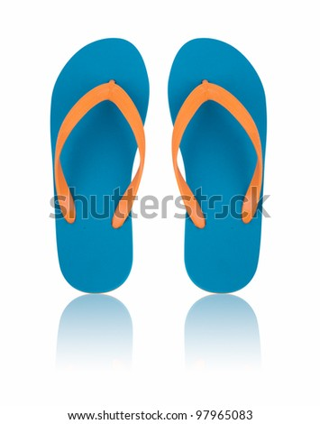 Flip Flops Isolated On White