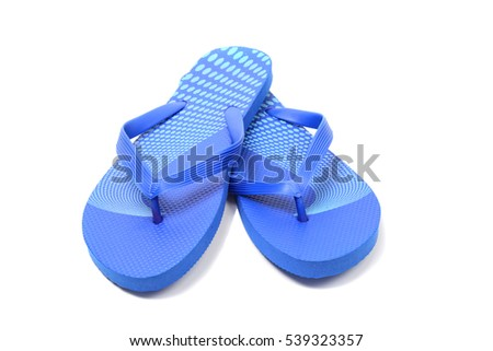 Flip flops, isolated over white, clipping path