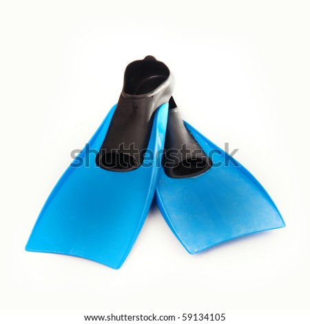 Flippers isolated against white background