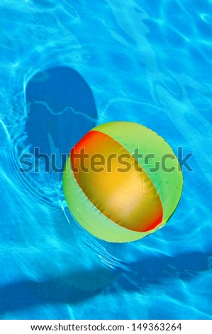 floating blowup ball - stock photo