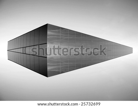 Floating building abstract