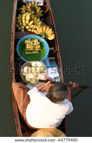 Floating market , Amphawa Thailand - stock photo