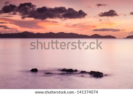 Floating rocks at Philippines - stock photo