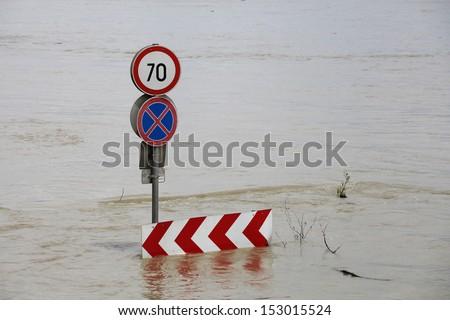 Flood waters - stock photo