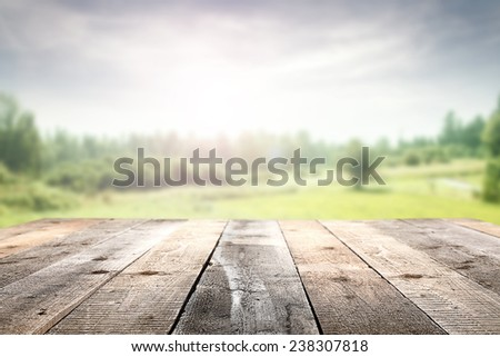 floor and spring  - stock photo