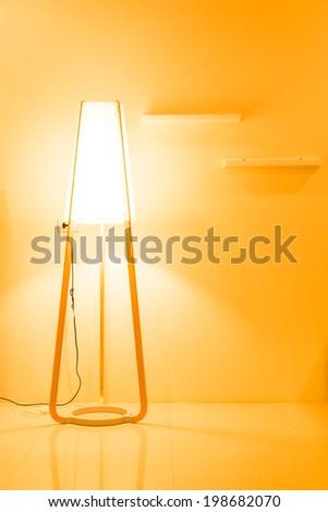 Floor lamp decor - stock photo