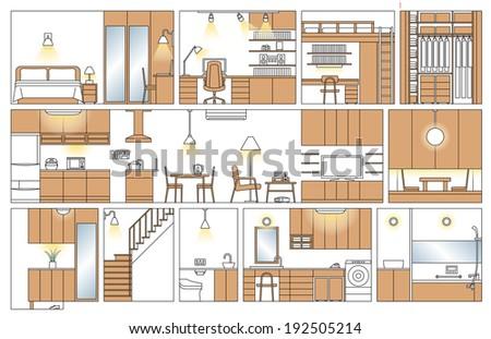 Floor plan of the house  - stock photo